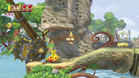 A Plump Yellow Fruit in Donkey Kong Country: Tropical Freeze