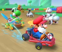 The icon of the Wendy Cup challenge from the 2021 Yoshi Tour in Mario Kart Tour