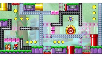 Miiverse screenshot of the 76th official level in the online community of Mario vs. Donkey Kong: Tipping Stars
