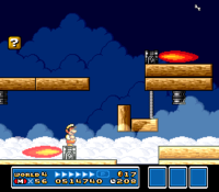 An airship's many hazards, in Super Mario Bros. 3 (top) and New Super Mario Bros. Wii (bottom)