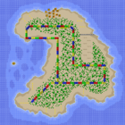 The map for Koopa Beach 2.