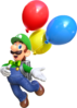 Artwork of Luigi for Balloon World, from Super Mario Odyssey