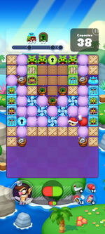 Stage 605 from Dr. Mario World