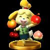 Isabelle trophy from Super Smash Bros. for Wii U
