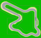 The map for the GBA version of Mario Circuit