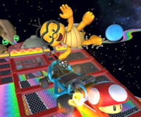 The icon of the Lakitu Cup's challenge from the Flower Tour in Mario Kart Tour.