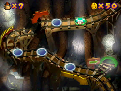 World 3 in the Mini-Game Coaster in the game Mario Party 2.