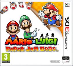 European cover of Mario & Luigi: Paper Jam