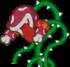 Sprite of Lava Piranha, from Paper Mario.