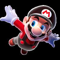 Artwork of Flying Mario from Super Mario Galaxy.