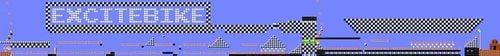 Layout of NES REMIX (Excitebike) in Super Mario Maker.