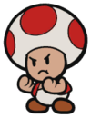 A Toad in Paper Mario: The Origami King