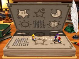 Wario in Booksquirm in Mario Party 4.