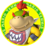 The icon artwork for Bowser Jr. from Mario Tennis Open