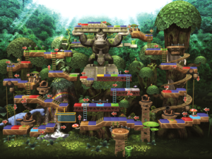 Map of DK's Treetop Temple
