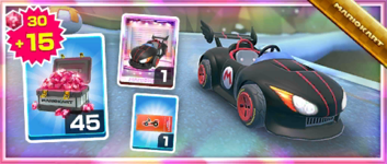 The Wild Black Pack from the Berlin Tour in Mario Kart Tour