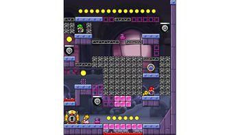 Miiverse screenshot of the 35th official level in the online community of Mario vs. Donkey Kong: Tipping Stars