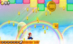 World 3-Rainbow in New Super Mario Bros. 2.