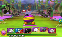 Screenshot of World 5-5, from Puzzle & Dragons: Super Mario Bros. Edition.