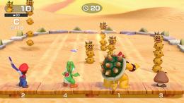 A Super Mario Party minigame where you throw boomerangs at Pokeys.