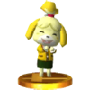 Isabelle (Sweater) trophy from Super Smash Bros. for Nintendo 3DS