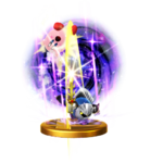 Galaxia Darkness's trophy render from Super Smash Bros. for Wii U