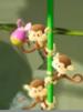 Three Ukikis in Yoshi's Crafted World
