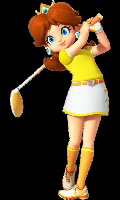 Mario Golf: Super Rush render of Daisy