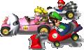 MKDS Mario Peach Luigi and Blooper Artwork.png