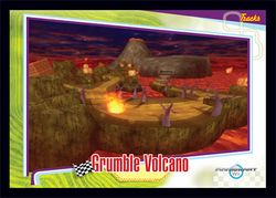 The Grumble Volcano card from the Mario Kart Wii trading cards