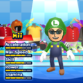 Luigi Mii Costume in the game Mario & Sonic at the London 2012 Olympic Games for the Wii.