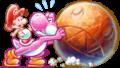 Pink Yoshi Chomp Artwork - Yoshi's New Island.png