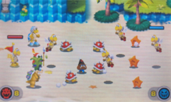 """A screenshot of the Minion Quest: The Search for Bowser level, """"The Power of Koopa Troopas""""."""