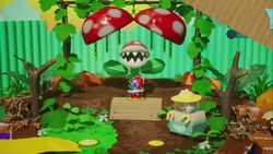 Acorn Forest from Yoshi's Crafted World.