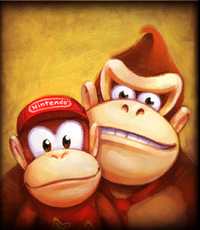A Kong Gallery picture of Cranky Kong's Shop from Donkey Kong Country Returns.