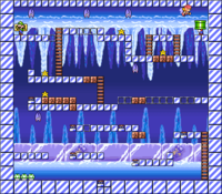 Level 4-10 map in the game Mario & Wario.