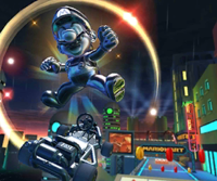 The icon of the Metal Mario Cup challenge from the Halloween Tour and the Donkey Kong Cup challenge from the 2020 Los Angeles Tour in Mario Kart Tour