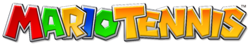 The current logo of the Mario Tennis (series).