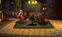 The Parlor segment from Luigi's Mansion: Dark Moon.