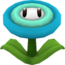 Rendered model of the Ice Flower power-up in Super Mario Galaxy.