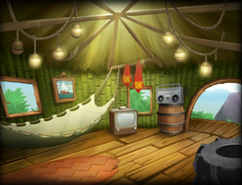The Kong Gallery picture of DK's Tree House from Donkey Kong Country Returns.