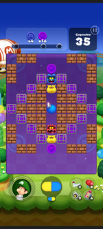 Stage 265 from Dr. Mario World