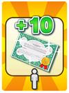 A Venture Card from Fortune Street indicating bonus stocks