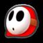 Shy Guy's head icon in Mario Kart 8