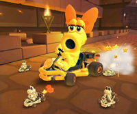 The icon of the Metal Mario Cup challenge from the Mario Tour in Mario Kart Tour