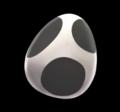 Mkagpdx black yoshi egg item.png