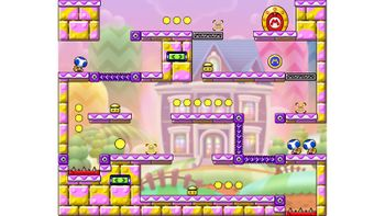 Miiverse screenshot of the 1st official level in the online community of Mario vs. Donkey Kong: Tipping Stars
