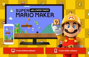 Title screen for Super Mario Maker Wallpaper Maker