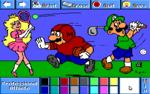 Mario, Luigi, and Peach as professional athletes.