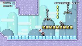 The Super Mario Maker 2 Story Mode level Swinging Claw Escape.
